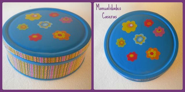Manualidades Caseras Faciles Transformación de una caja de galletas en un joyero con whasi tape , flores y fieltro