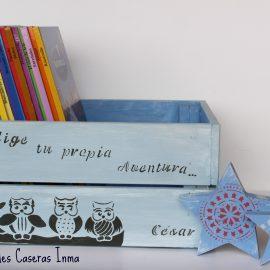 Caja de Madera para Cuentos: Chalk Paint