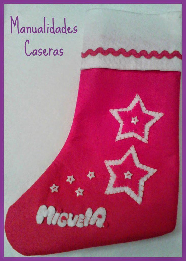 Manualidades Caseras faciles Bota de Navidad personalida de estrellas
