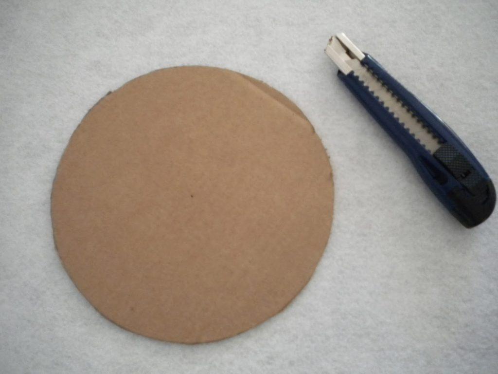 Manualidades Caseras Inma_ Cortar circulo pequeño de cartón