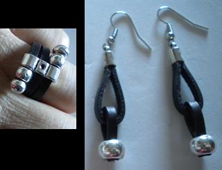 manualidades caseras faciles anillo con pendientes zarmak en cuero