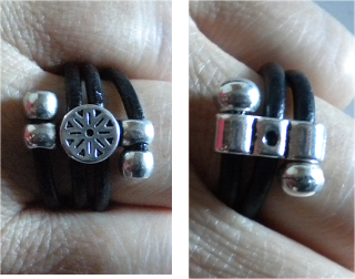 manualidades caseras faciles anillos en cuero y zamak originales