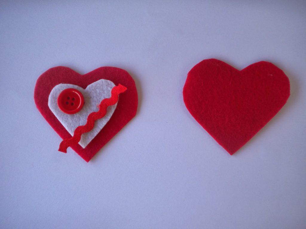 Manualidades Caseras Inma Corazones de fieltro como cortar los corazones