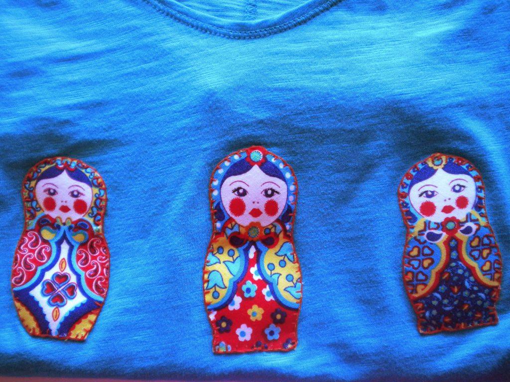 Manualidades caseras faciles camisetas matrioska