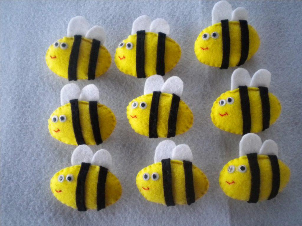 Manualidades caseras Inma abeja fieltro the bees carrera de mujer