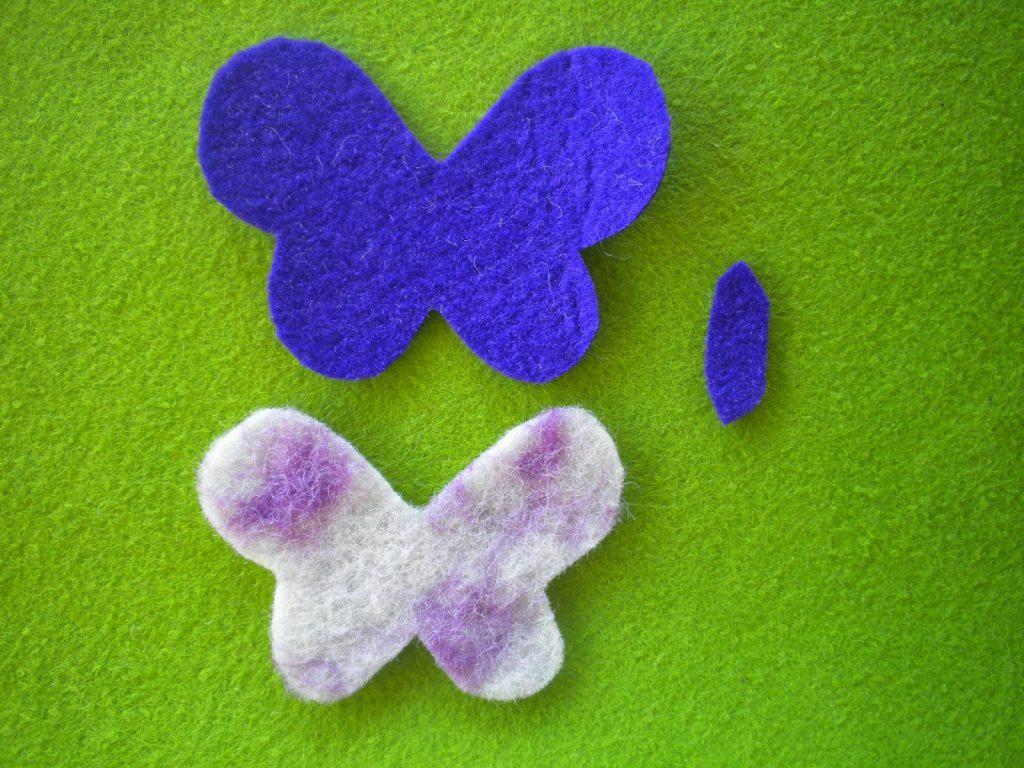 Manualidades Caseras faciles fieltra mariposa violeta