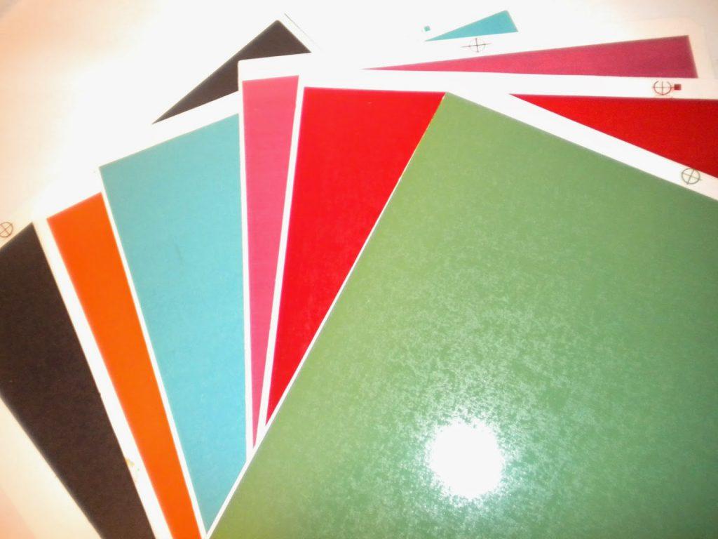 Manualidades Caseras Inma_ Calcas cerámicas estrellas y espirales_ pliegos de colores