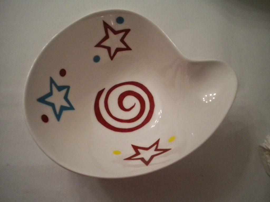 Manualidades Caseras Inma_ calcas cerámicas con dibujos geométricos