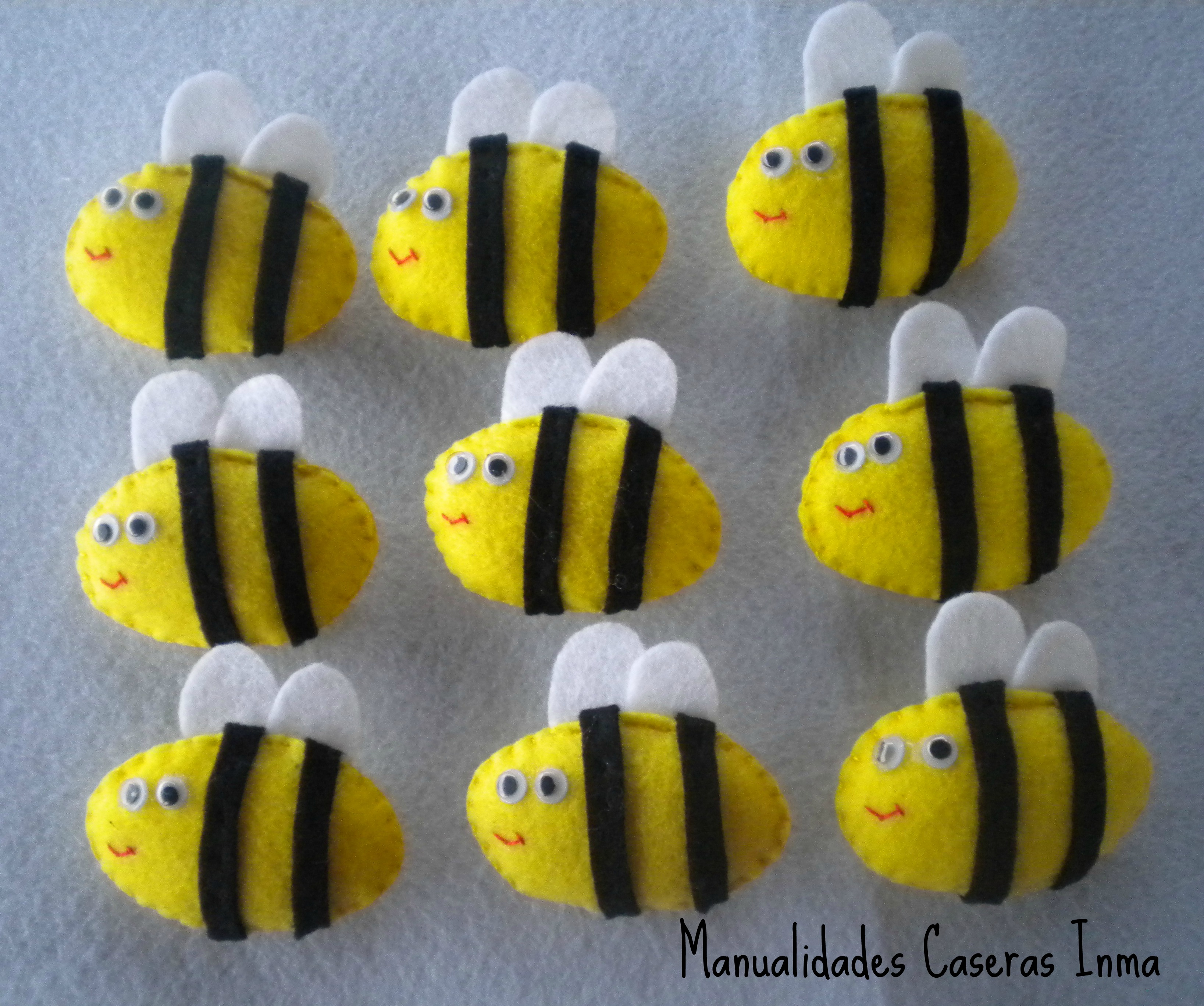 Manualidades Caseras Inma_ broche abeja
