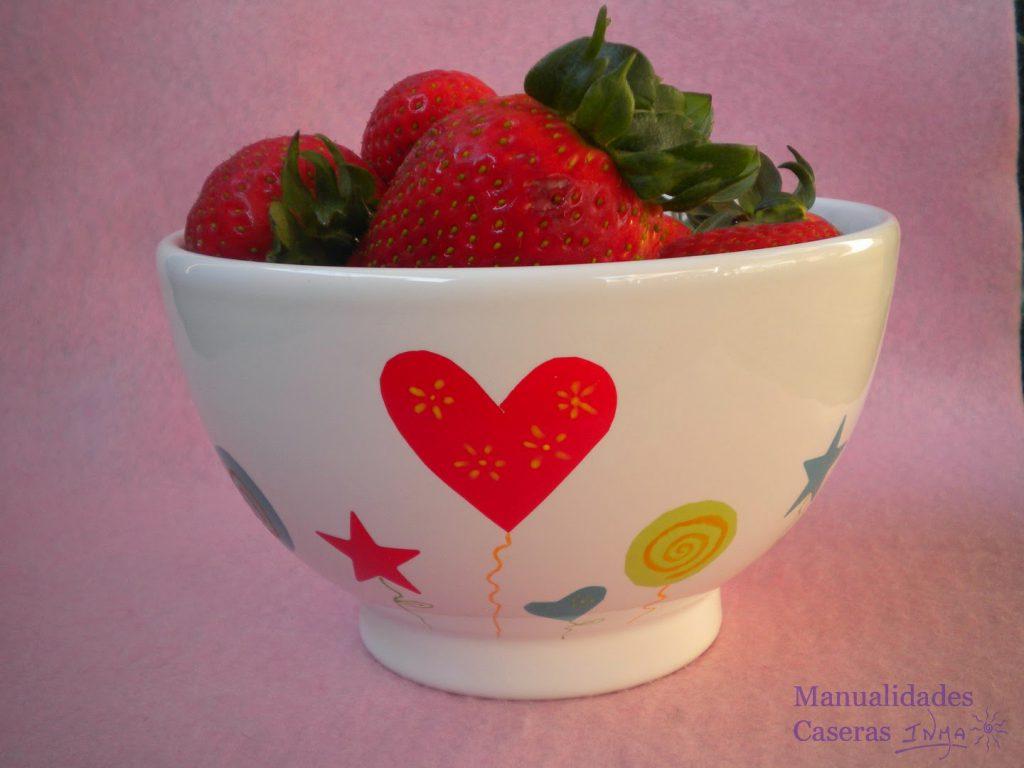 Manualidades caseras faciles calcas ceramica de colores y oxido colorantes de colores con corazones