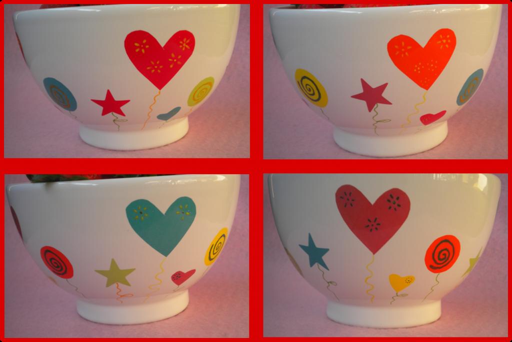 Manualidades caseras faciles calcas ceramica de colores y oxido colorantes de colores con corazones y estrellas