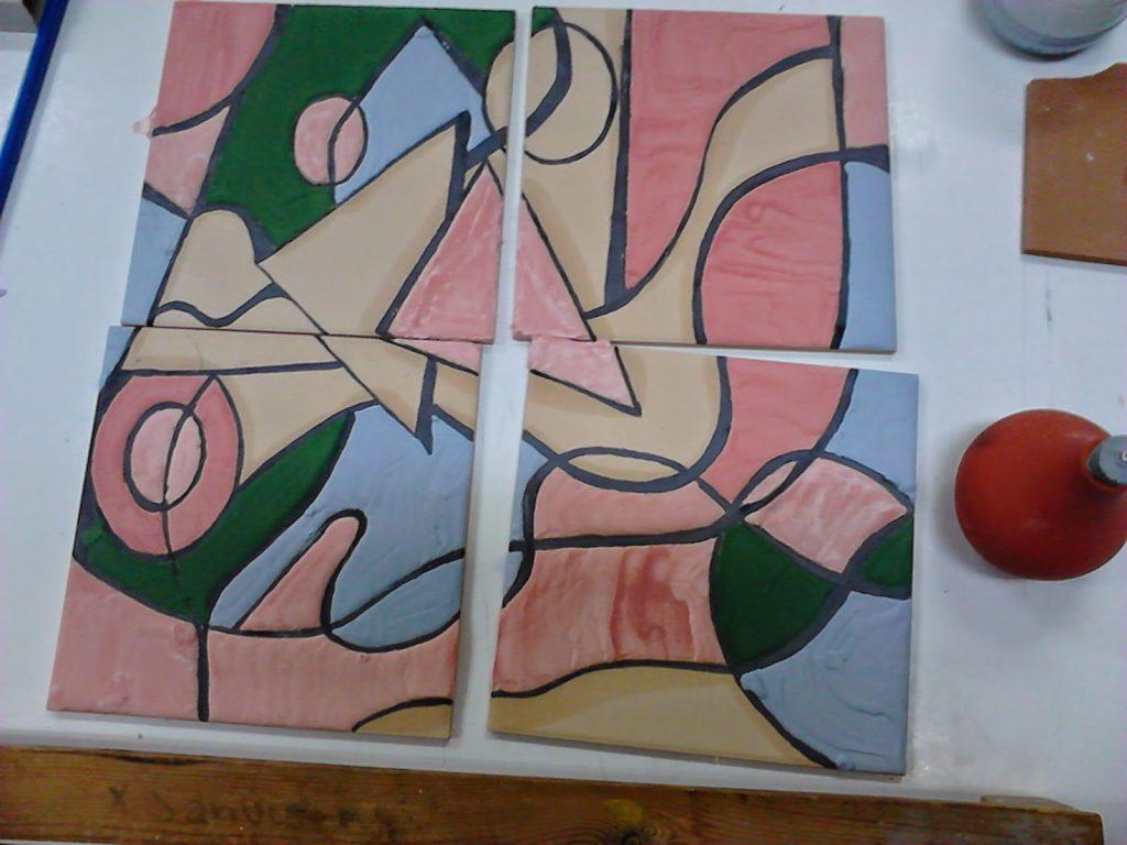 Manualidades caseras Inma mural de cuerda seca paso a paso