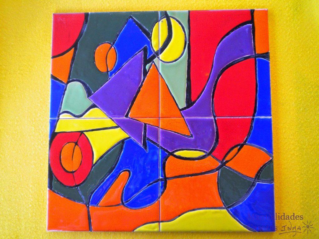 Manualidades caseras Inma mural de cuerda al sacarlo del horno
