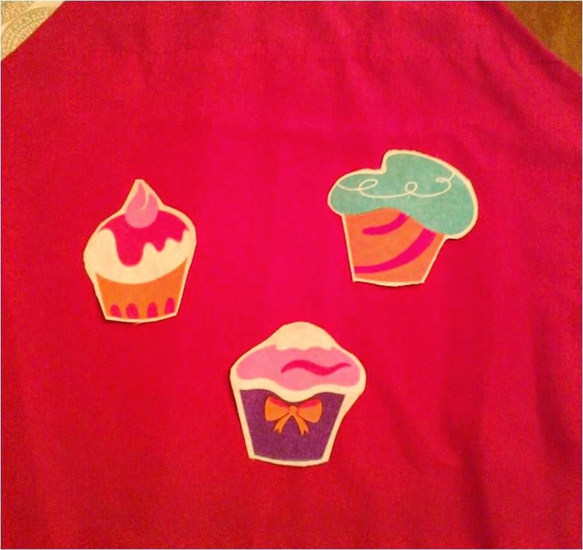Manualidades Caseras Faciles Delantar de Cup Cake de colores