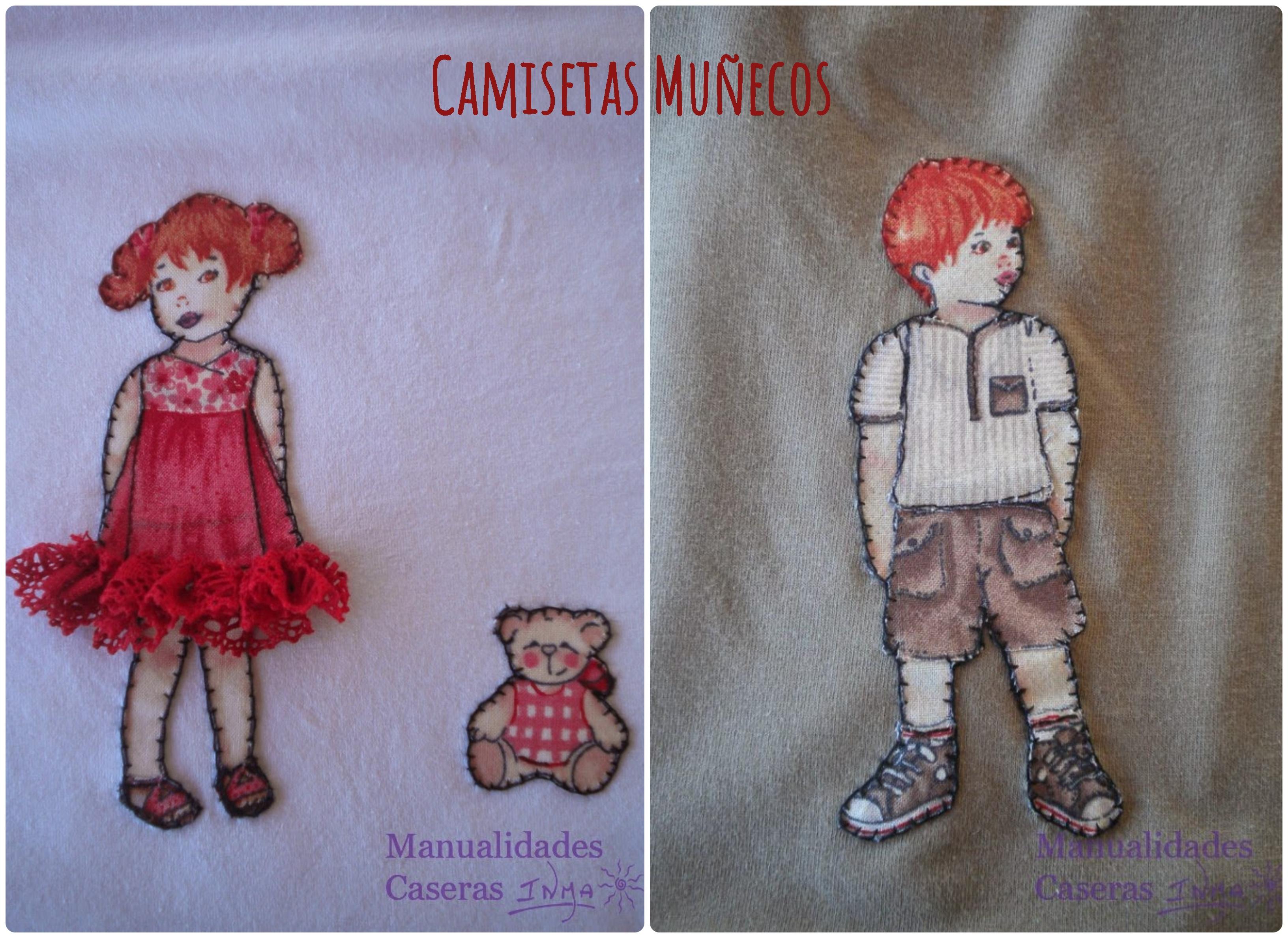 Manualidades Caseras Inma Camisetas decorados con muñecos