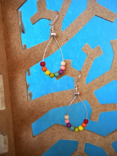 Manualidades Caseras Inma _pendientes colorista de cerámica
