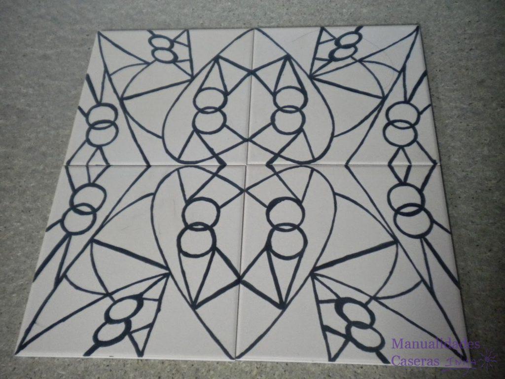 Manualidades Caseras Faciles dibujo pintado con aceite oxido colorante negro con pincel
