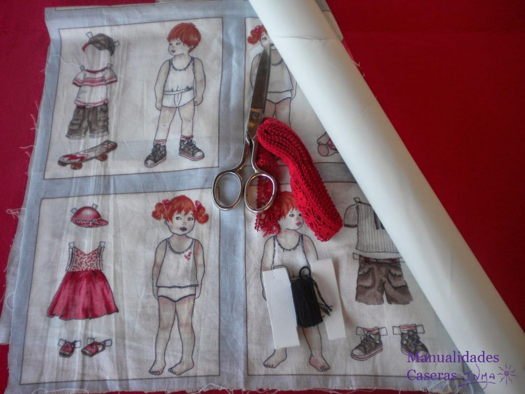 Manualidades Caseras Inma Camisetas decorados con tela de recortables