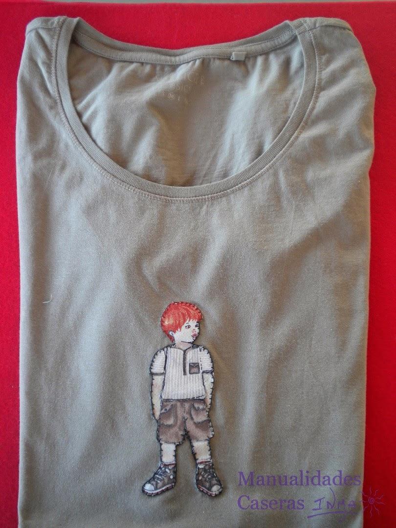 Manualidades Caseras Inma Camisetas decorados con muñeco niño