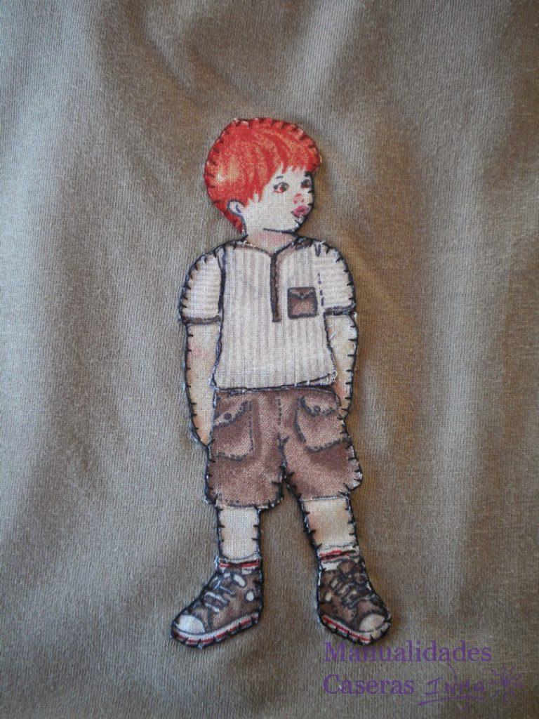 Manualidades Caseras Faciles Camiseta decorado con niño recortable