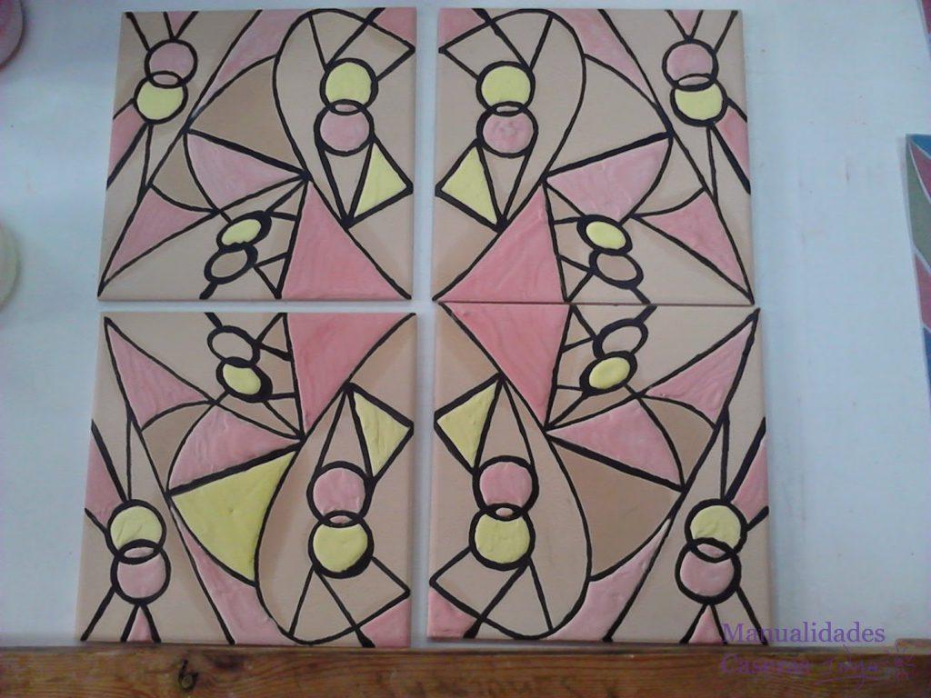 Manualidades Caseras Faciles rellenado de los esmaltes de colores con pera