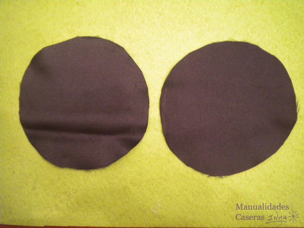 Manualidades Caseras Inma tela de forro negra para hacer un estuche auriculares