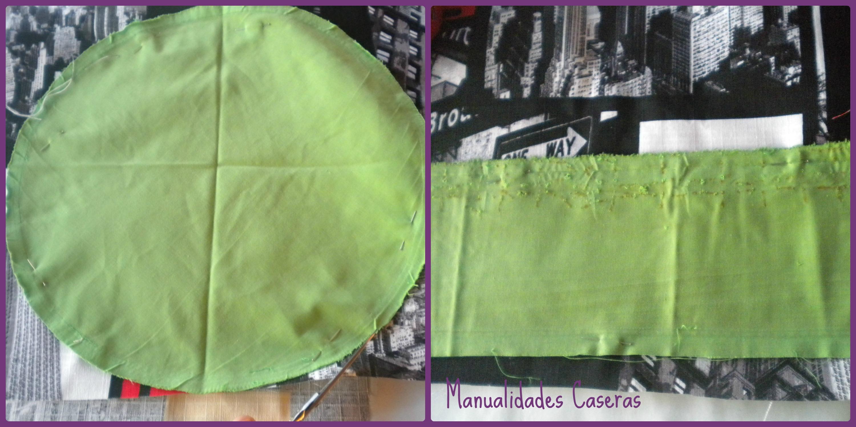 Manualidades Caseras Inma_ Restauración de taburete_ Como corta la tela con ayuda de la tela anterior