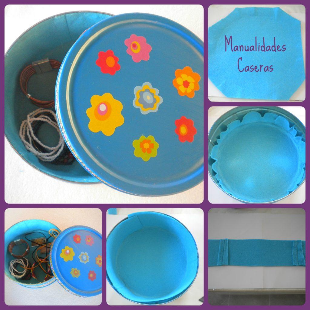 Manualidades Caseras Inma Transformación de una caja de galletas en un joyero como forrar la caja galletas con fieltro