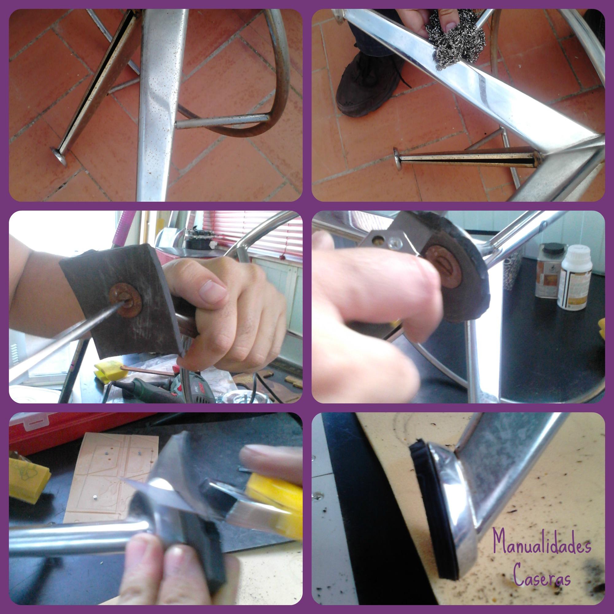 Manualidades Caseras Inma_ restauración de un taburete_ como reparar las patas