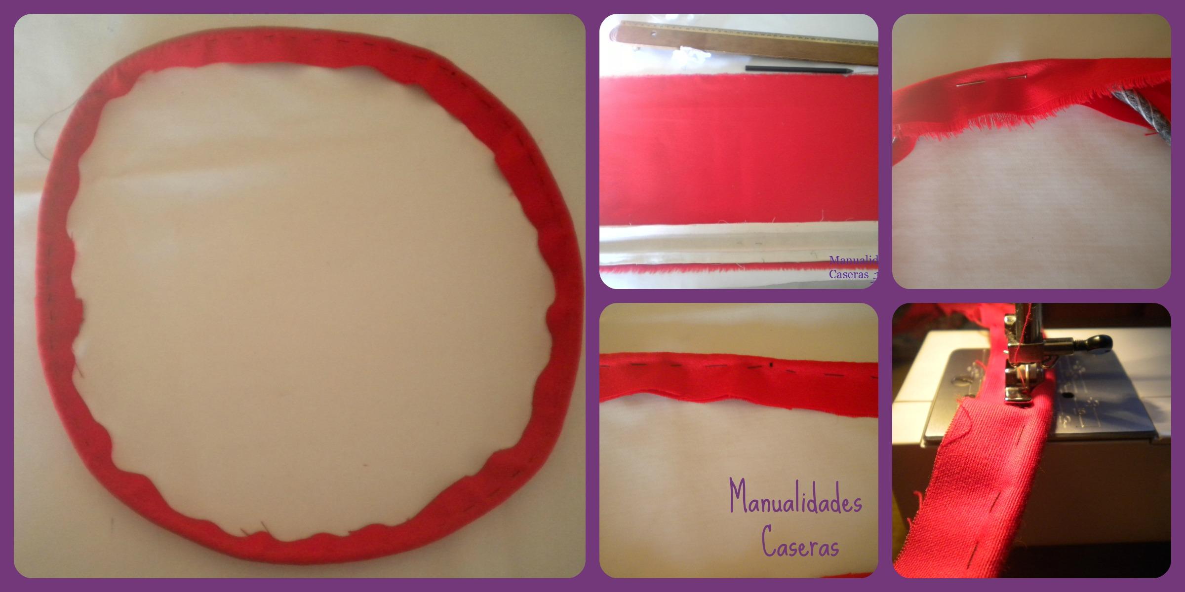 Manualidades Caseras Inma_ restauración de un taburete_ como hacer el cordón rojo del filo