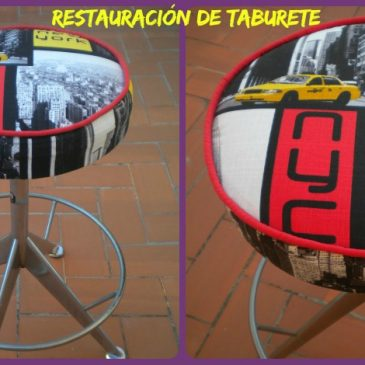 Restauración de  un taburete