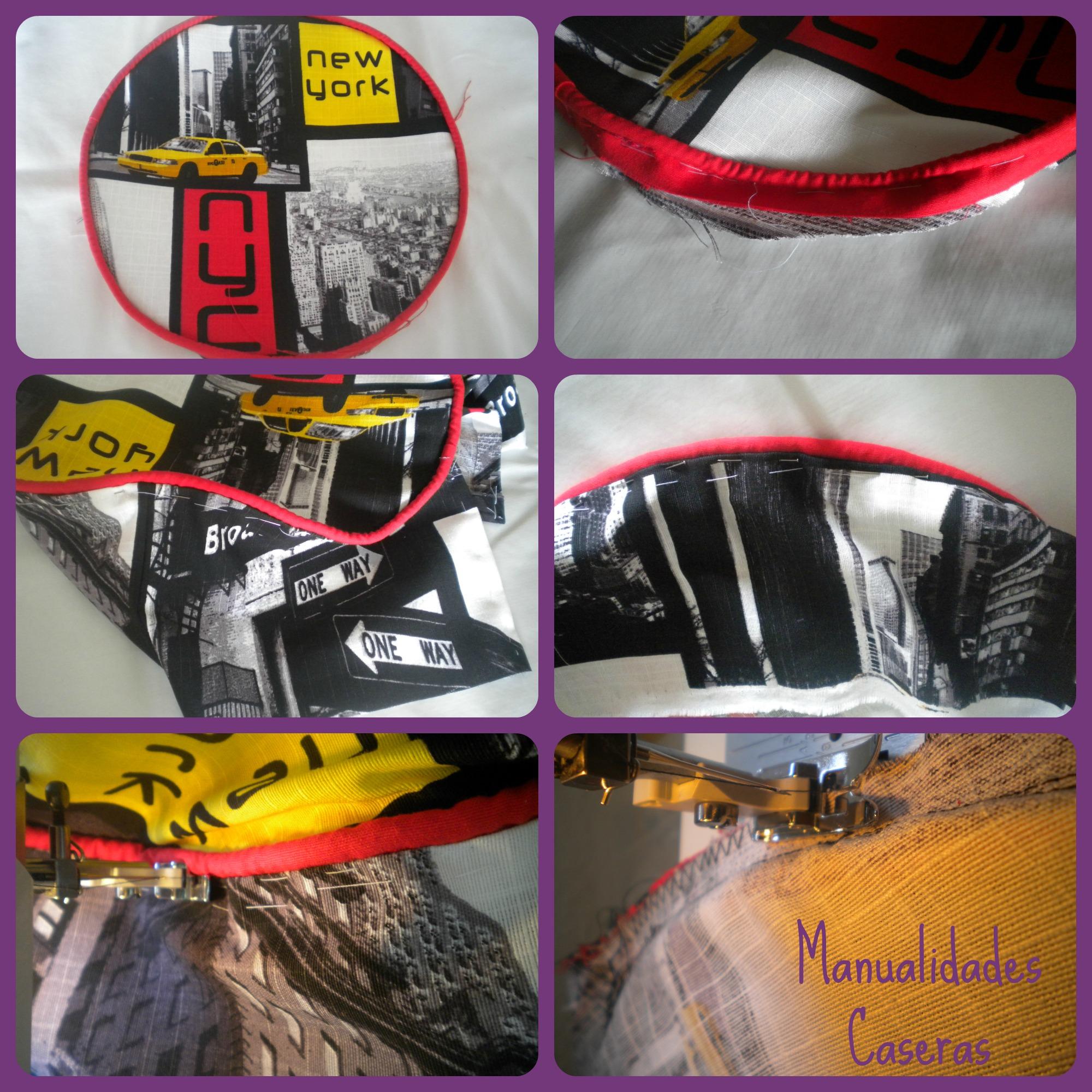 Manualidades Caseras Inma_ restauración de un taburete_ como coser la tela del taburete