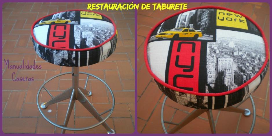 Manualidades Caseras Inma_ Restauración de taburete