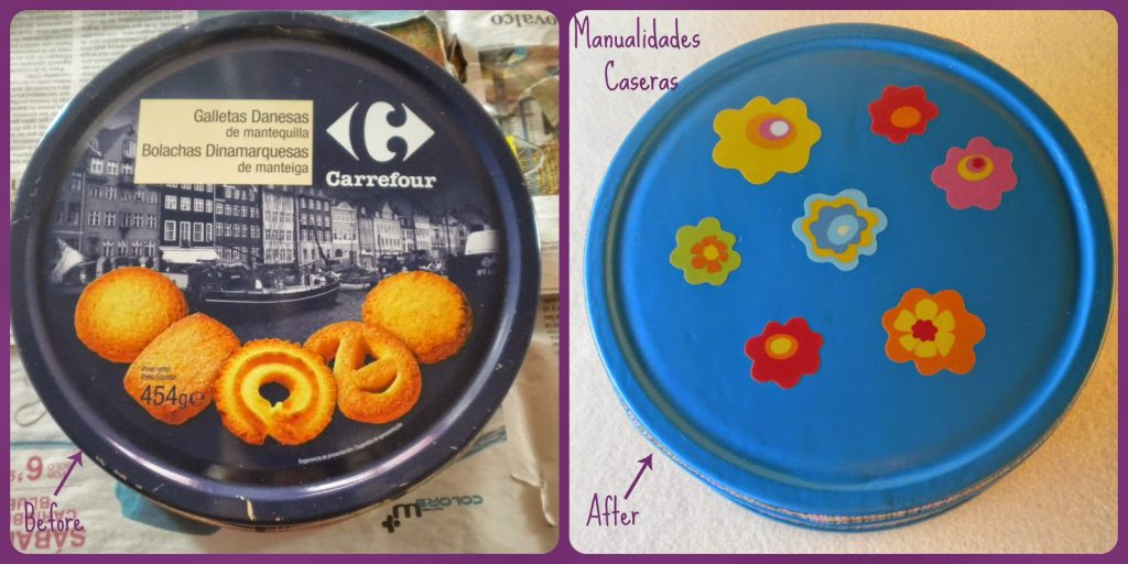 Manualidades Caseras Fáciles Transformación de caja de galletas en un joyero
