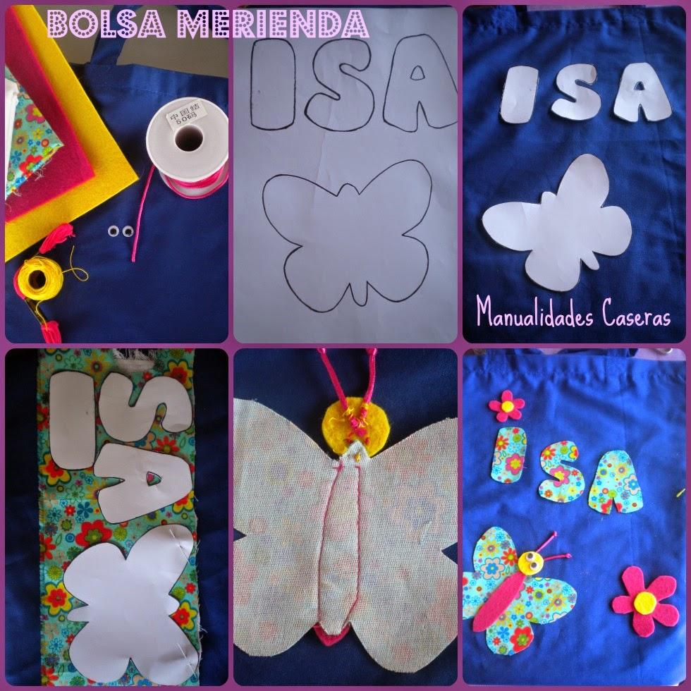 Manualidades Caseras Inma_ como hacer una bolsa merienda para el colegio