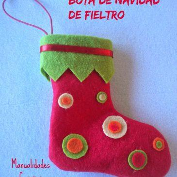 Manualidades Navideñas :Bota de Navidad