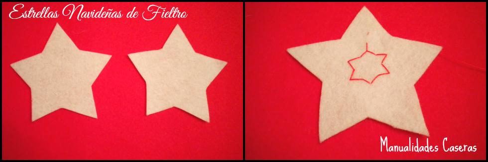 Manualidades Caseras Faciles como hacer unas estrellas navideña en fieltro