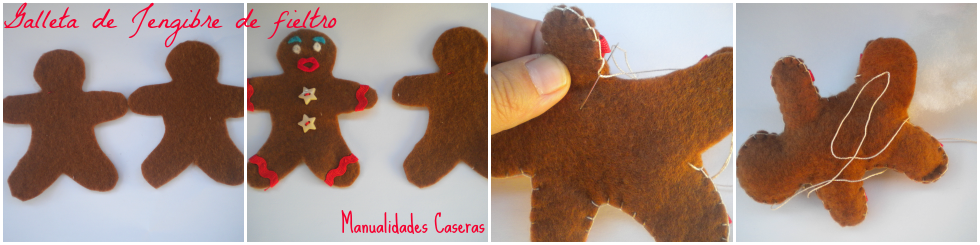 Manualidades Caseras faciles como hacer una galleta de jengible en fieltro