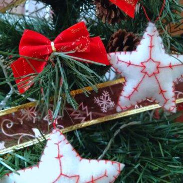 Estrellas navideñas de fieltro
