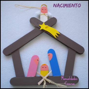 Manualidades Navideñas: Nacimiento de palos