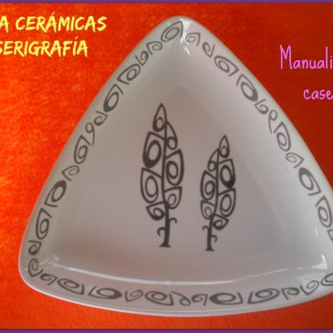 Calcas cerámicas hechas con serigrafía