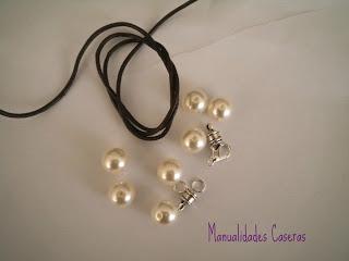 manualidades caseras Inma que cosas necesitamos para realizar pulsera de perlas y cuero