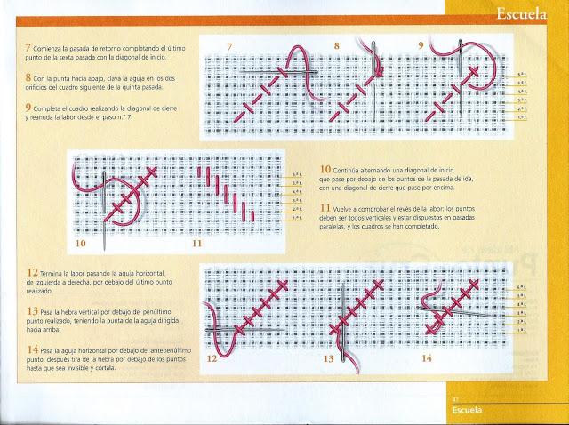 Manualidades Caseras fáciles Inma patrón diagonal simple 2 punto de cruz