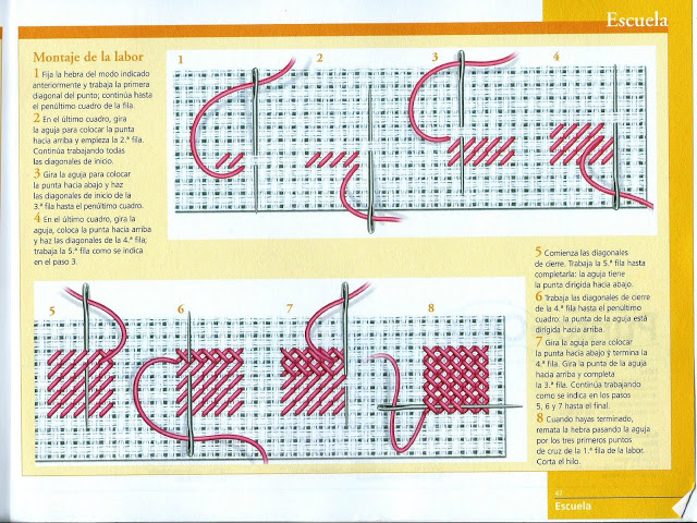 Manualidades Caseras fáciles Inma patrón revés perfecto 2 punto de cruz