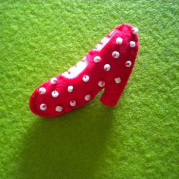 Broche zapato flamenca