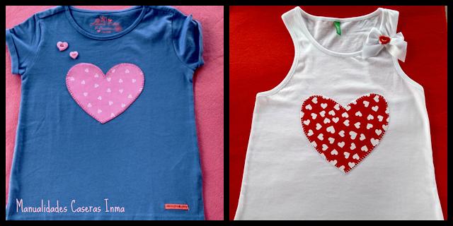 Manualidades para regalar : Camisetas para niña