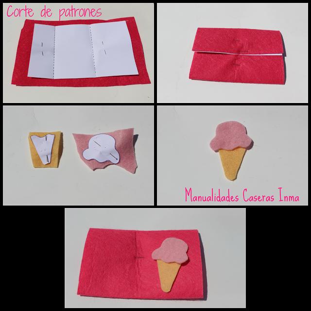 Manualidades Caseras Faciles Inma corte de patrones Monederos de helados