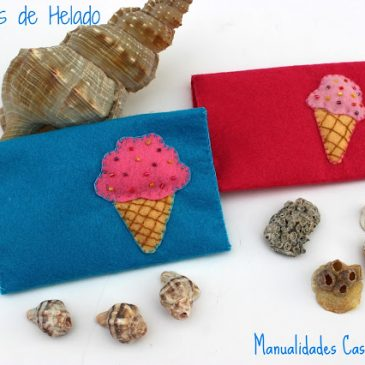Manualidades para regalar: Monedero de  helado