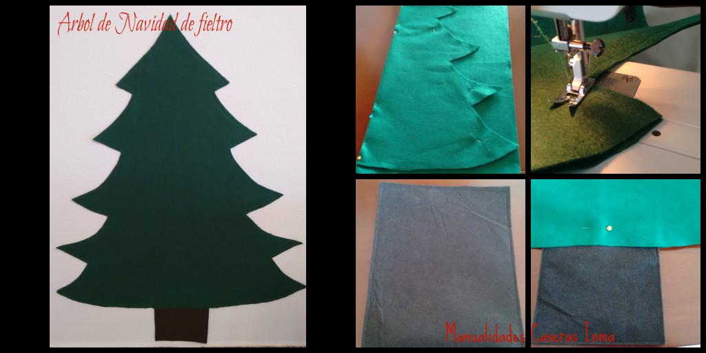 Manualidades Caseras Inma_ Árbol de Navidad de Fieltro_ Como coser