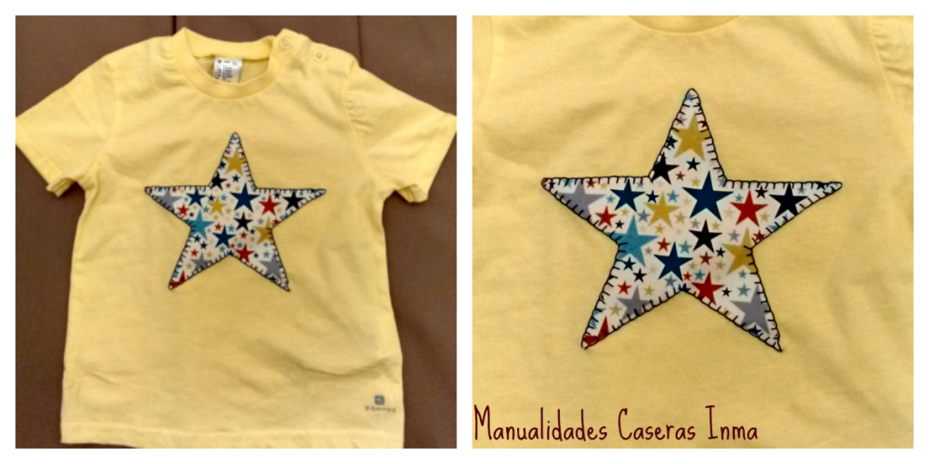Manualidades Caseras Inma Camiseta de estrella para niño